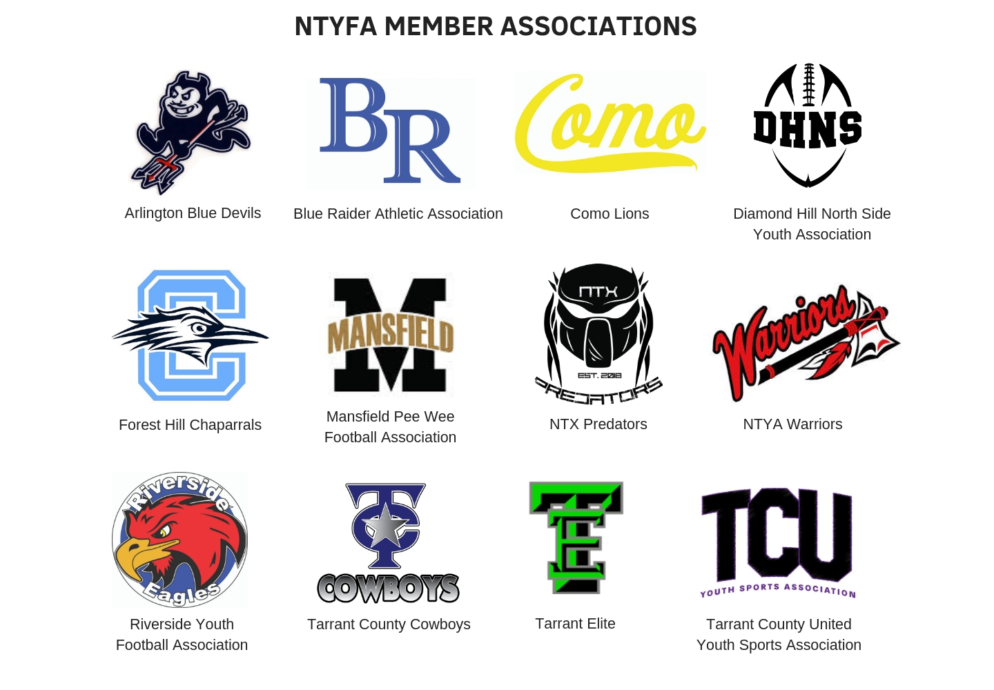 North Texas Youth Football Association - (DFW, TX) - powered
